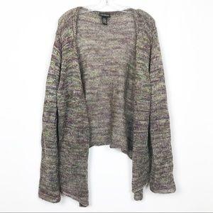 Lane Bryant Metallic Wool Open Front Cardigan
